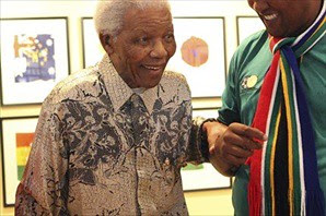 Former South African President, leader of the African National Congress and political prisoner, Nelson Mandela, makes a public appearance on the eve of the opening of the World Cup inside the country. by Pan-African News Wire File Photos