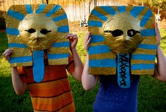 Pharaoh mummy masks- complete!