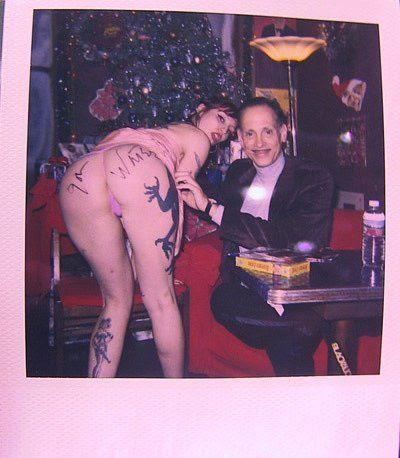 John Waters and a stripper