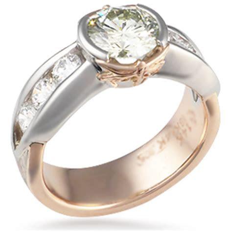 Mokume Dragonfly Engagement Ring