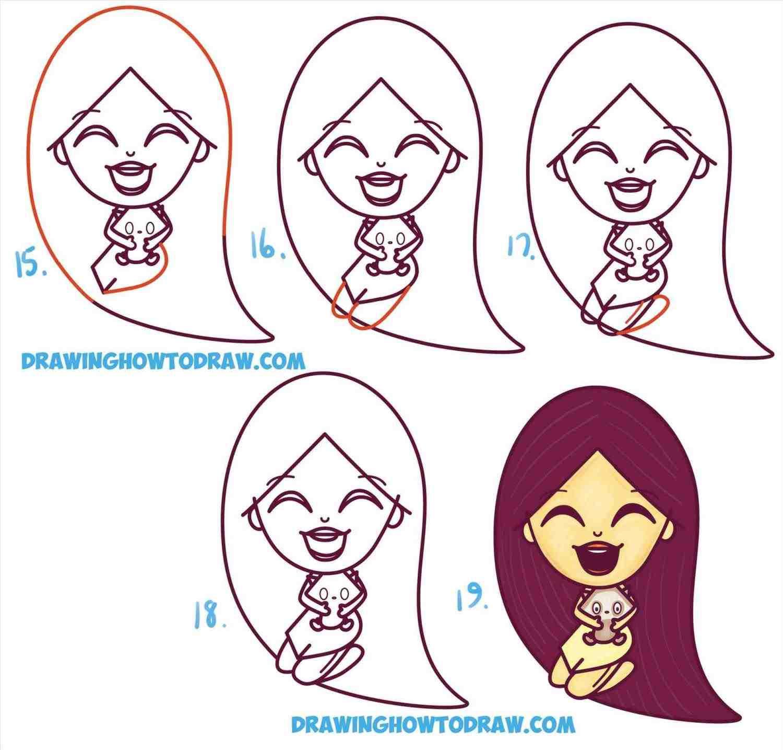 princess jasmine drawing step by step