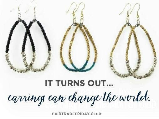 fair trade friday earring of the month club