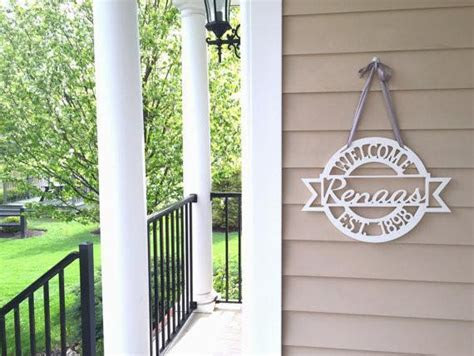 Door Welcome Sign with Established Date ? Pinecone Home