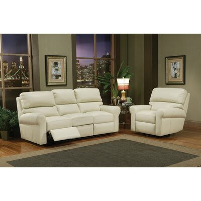 Omnia Furniture Brookfield Leather Reclining Sofa Living Room Set