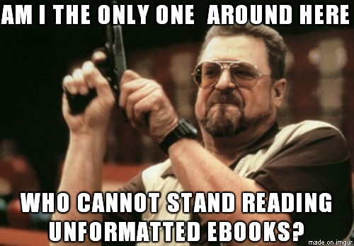 Frustrated ebooks reader