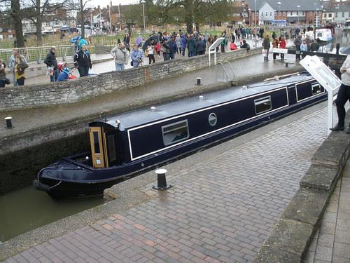 Eliza @ River Avon Lock, Stratford-upon-Avon Bancroft Basin