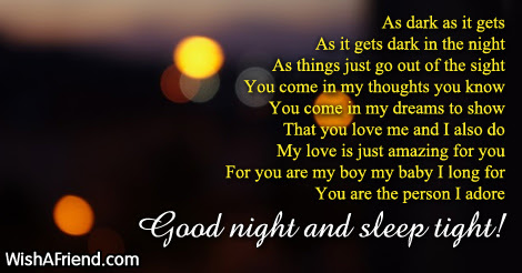 As Dark As It Gets Good Night Poem For Him