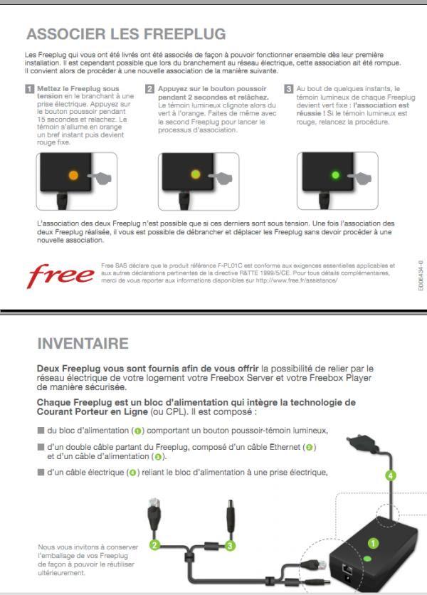 free association avec le serveur freebox en cours