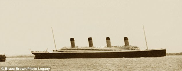 Iconic: A 15-year-old Elliot Brown took this picture of the Titanic as it left Southampton on its first and only voyage