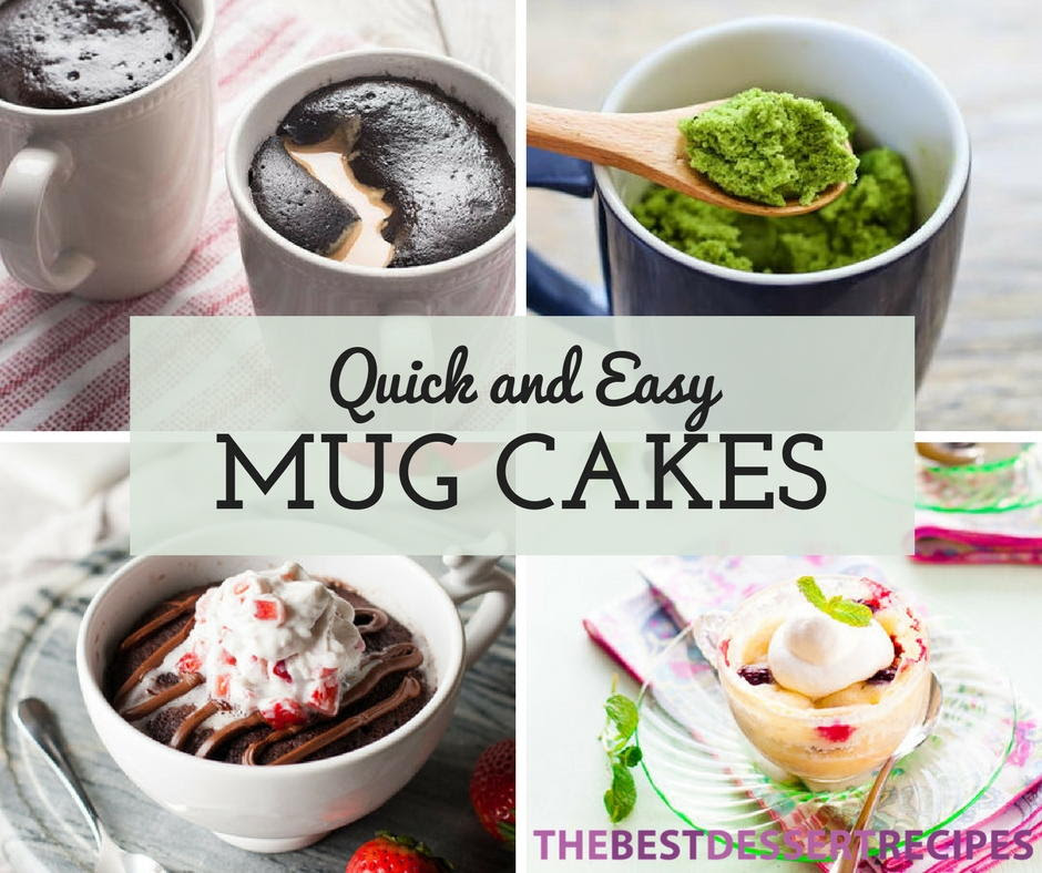26 Quick and Easy Mug Cake Recipes   TheBestDessertRecipes.com
