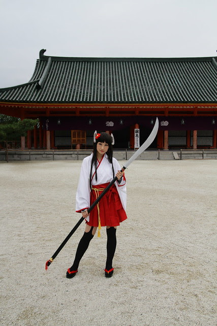 Cosplayer girl at Heian Shrine