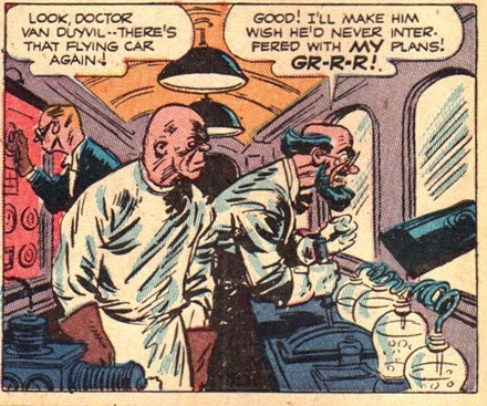 Evil scientist comic book villains