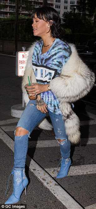How many chinchillas did it take to make that wrap? Rihanna stepped out in a controversial animal fur