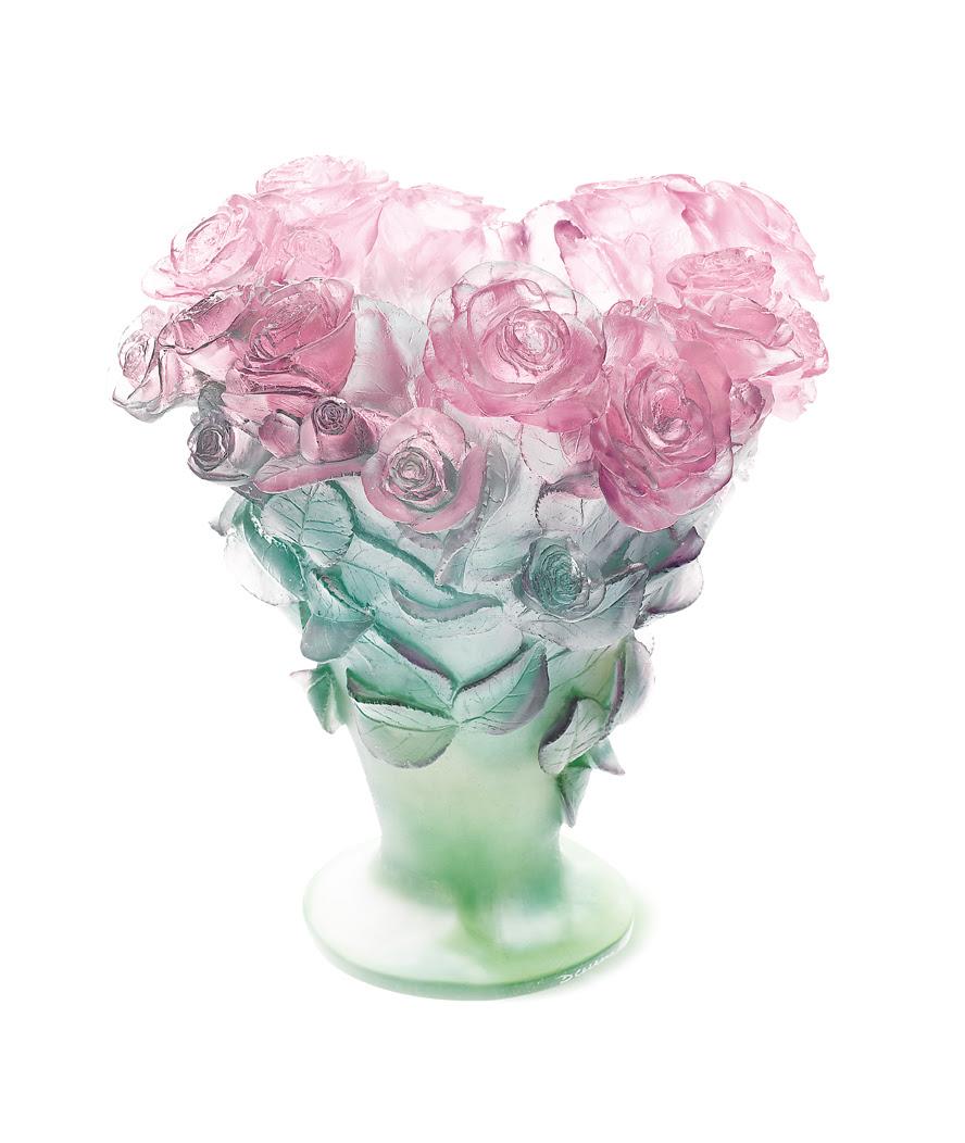 Roses Vase Daum