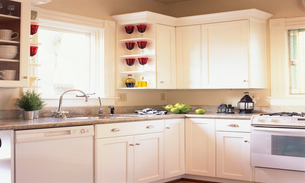 Country Kitchens with White Cabinets Small White Kitchen ...