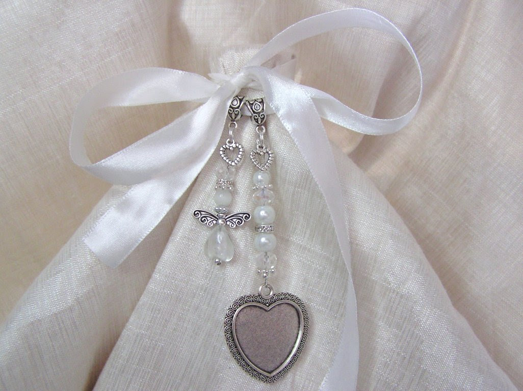 Angel Heart Single Frame Shop Bridal Bouquet Charms