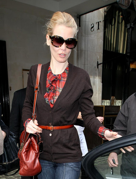 Claudia Schiffer Leaving Scotts Restaurant In London