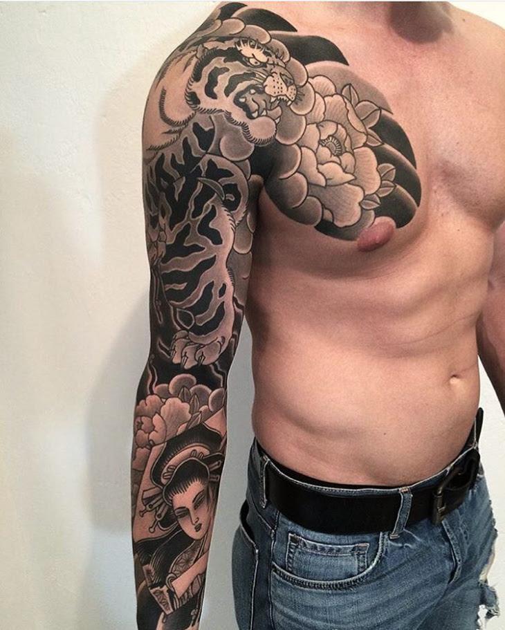 Similiar Half Chest Tattoos For Men Keywords