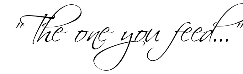 The One You Feed Tattoo Letter Scetch Download