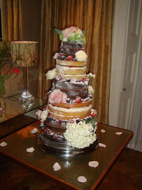 5 Tier (3 layer) Naked Wedding Cake   Wedding Cakes