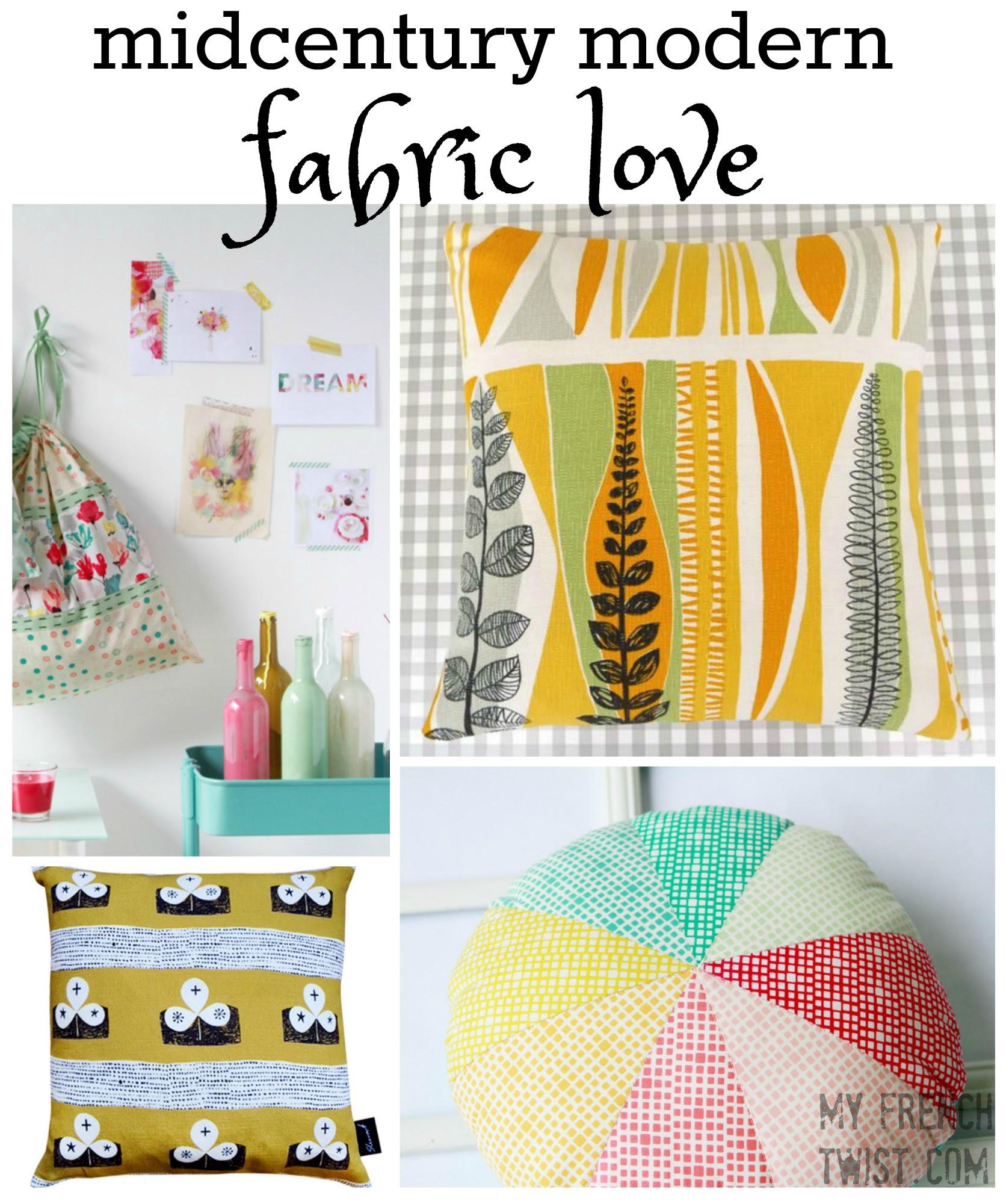 Midcentury Modern Fabric Love My French Twist