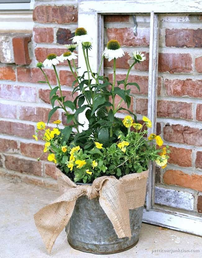 Bucket Flower Pot