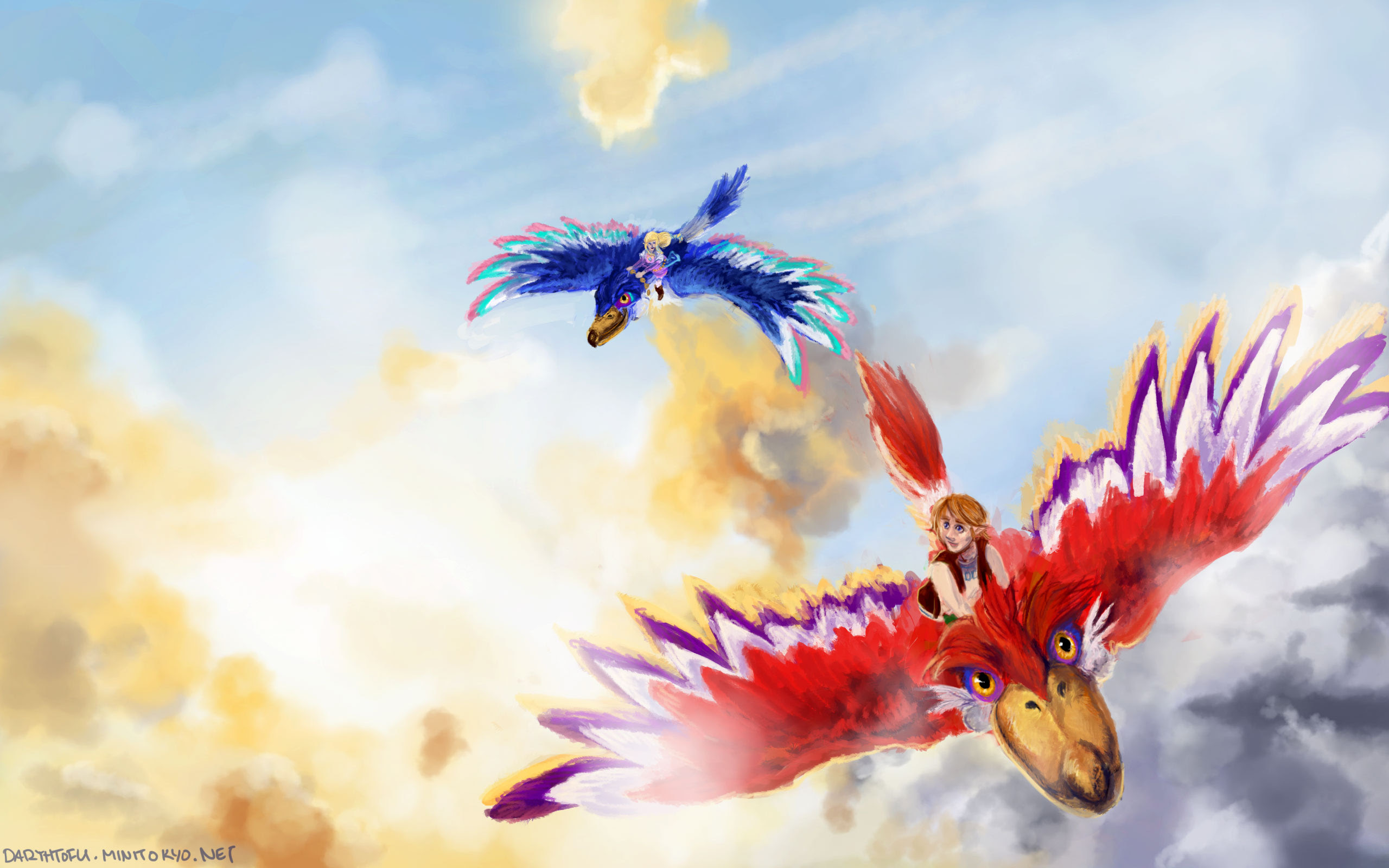 The Legend Of Zelda Skyward Sword Wallpaper Flying Minitokyo