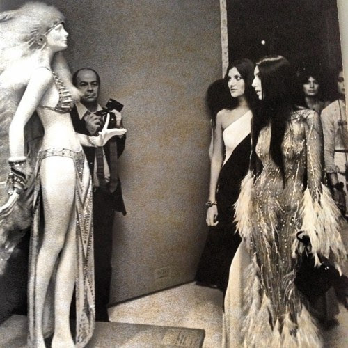 Her Highness in Bob Mackie at the Met Gala 1974.