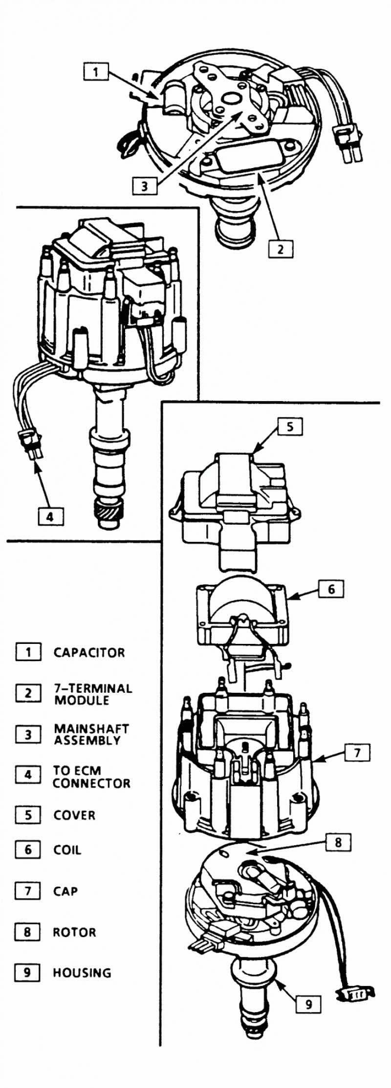 gm delco remy hei distributor wiring diagram  wiring