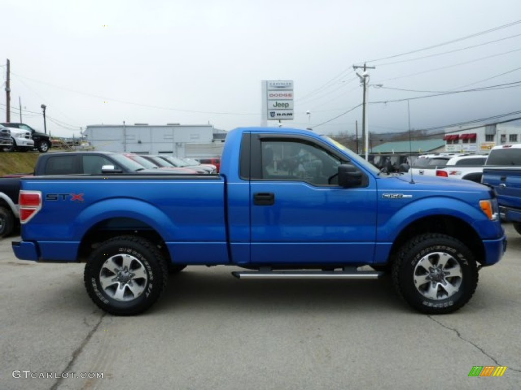 Blue Flame Metallic 2011 Ford F150 STX Regular Cab 4x4 Exterior Photo ...