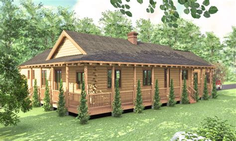 log cabin ranch style home plans simple log cabins log