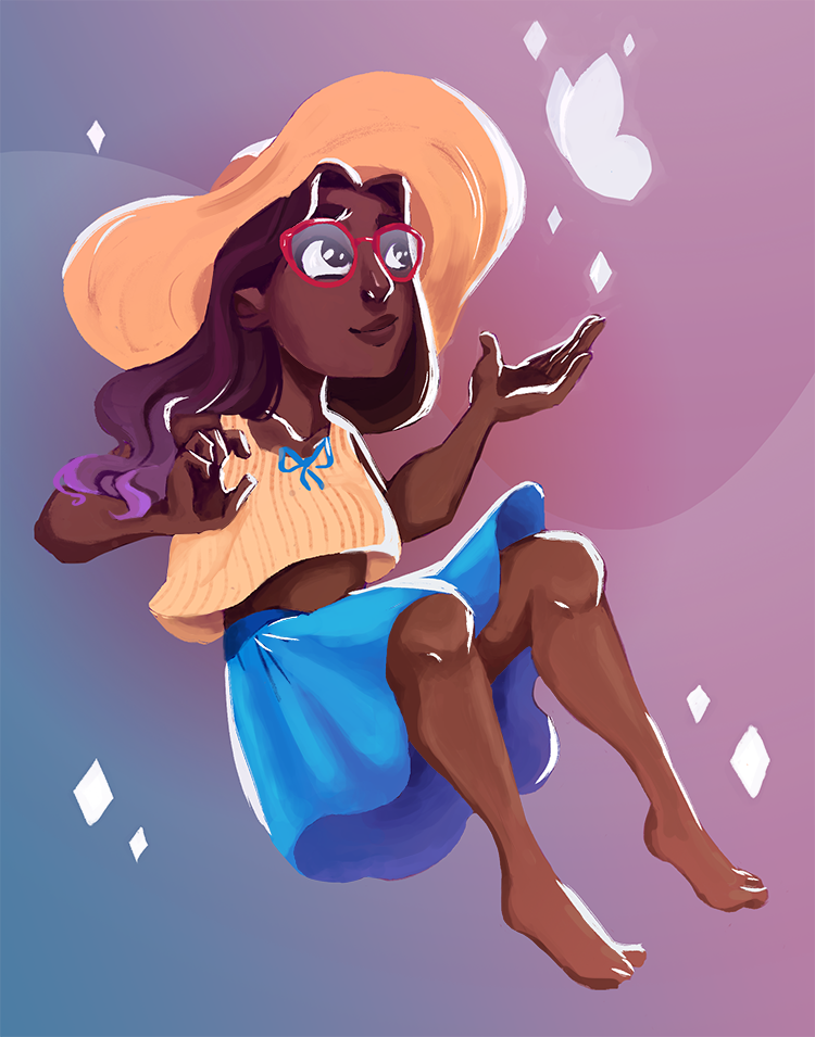 """inspired by @tri-forcing 's Connie cosplay and SU episode """"Mindful Education"""" P.S. """"Here comes a thought"""" is now my fav SU song"""