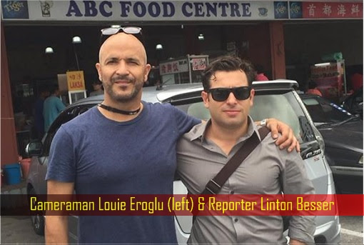 Australian ABC Cameraman Louie Eroglu and Reporter Linton Besser