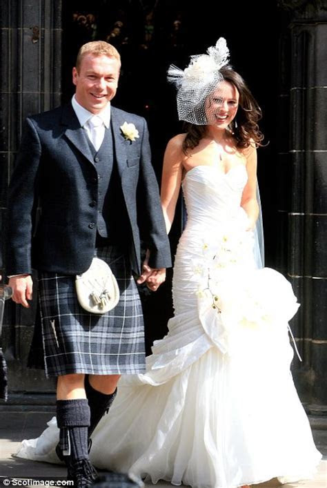 Olympian Chris Hoy marries girlfriend Sarra Kemp in