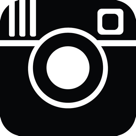 instagram logo png black transparent