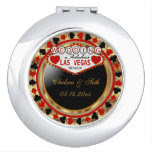Married in Las Vegas | Red & Gold Metallic Vanity Mirrors