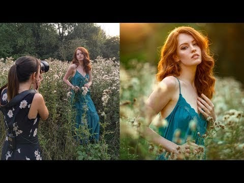 Backlit Natural Light Photoshoot, Behind The Scenes with Canon 85mm 1.2 lens