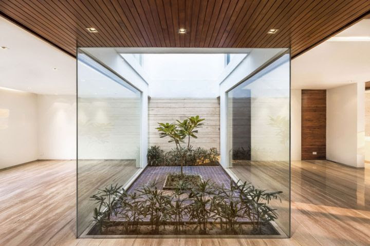 indian modern house interior garden