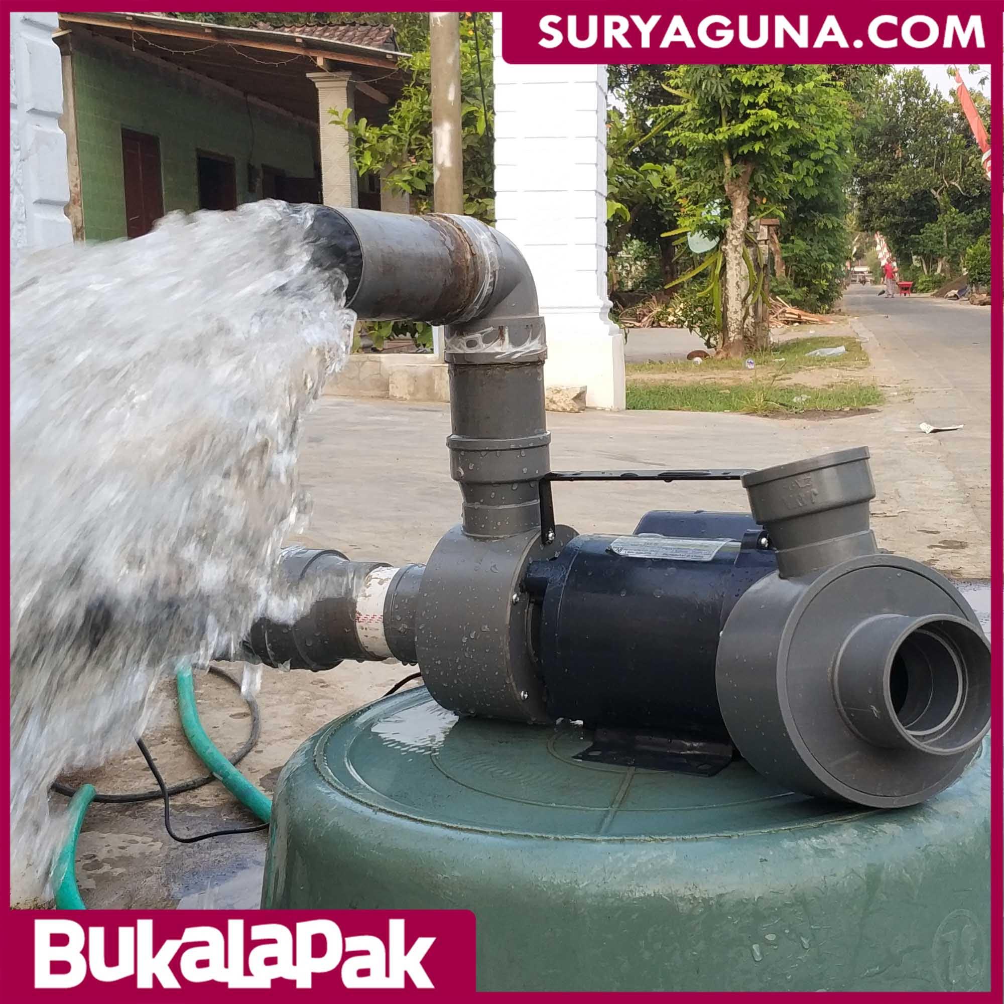 Pompa Air Listrik PVC Debit Air Besar Cocok untuk Pompa ...