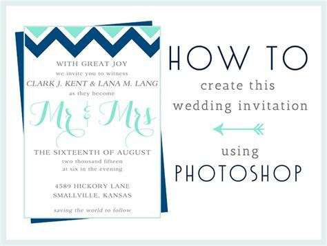 How To: Make this Wedding Invitation in Photoshop