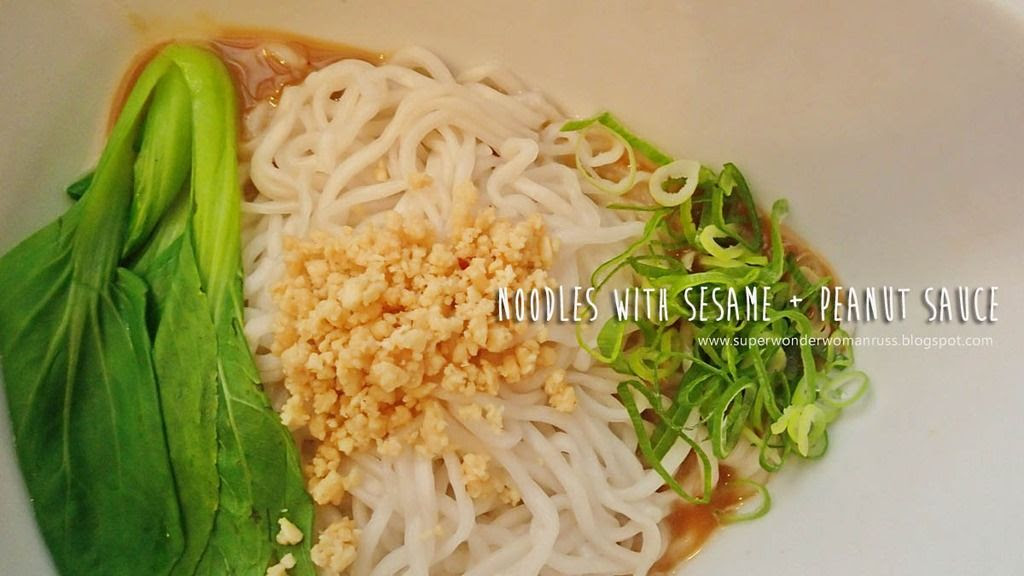 Noodles with Sesame and Peanut Sauce