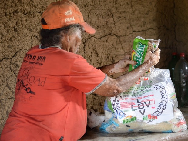 Mais de mil cestas serão distribuídas no RN (Foto: Jean Carlos)