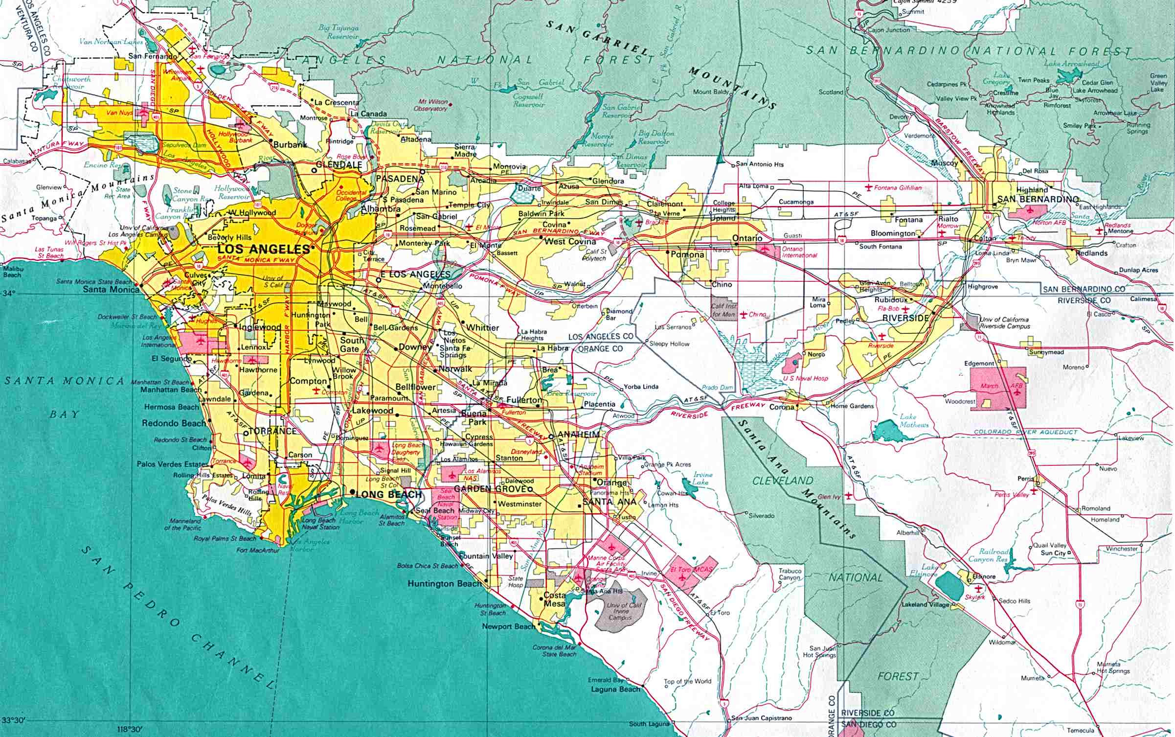 Map Of California Los Angeles.Los Angeles Map Usa Map Guide 2016