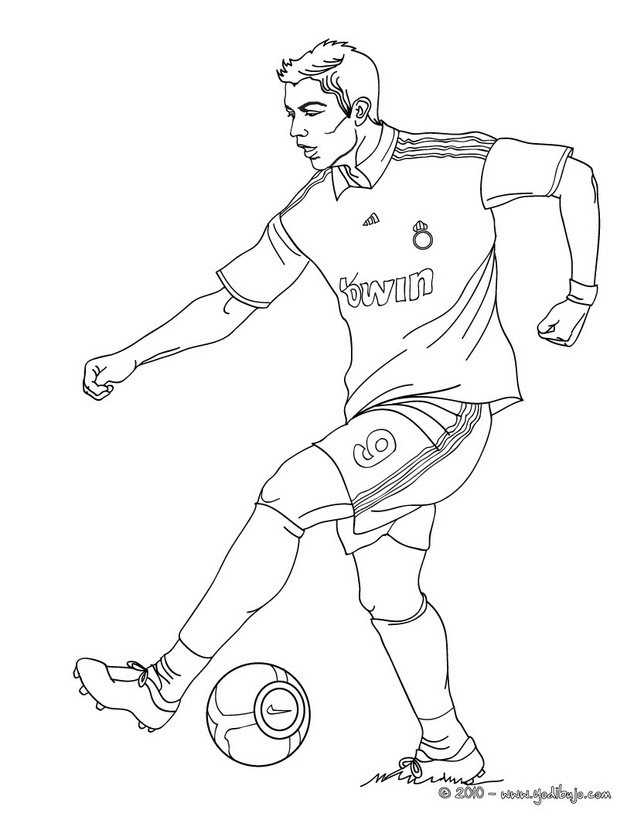 Dibujos Para Colorear Cristiano Ronaldo Es Hellokids Com