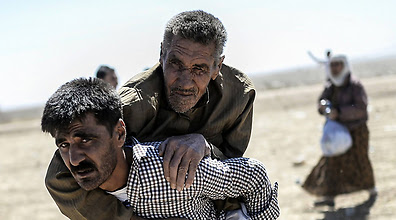 Kurdish refugees from Syria (Photo: AFP)
