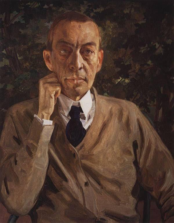 картины Сомова Портрет С.В.Рахманинова. 1925