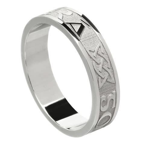 Love Forever White Gold Wedding Ring   Irish Wedding Rings
