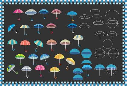 傘の描き方その1 イラレレシピ 時々フォトショ