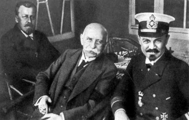 Eckener with Count Zeppelin and Peter Strasser