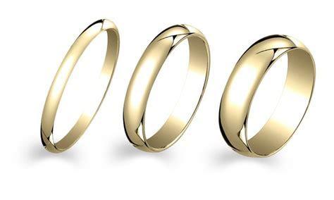 Gold Plated Wedding Band   Groupon Goods